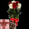 фото товару 7 троянд мікс із цукерками