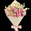 Букет «Юна любов» рожеві еустоми