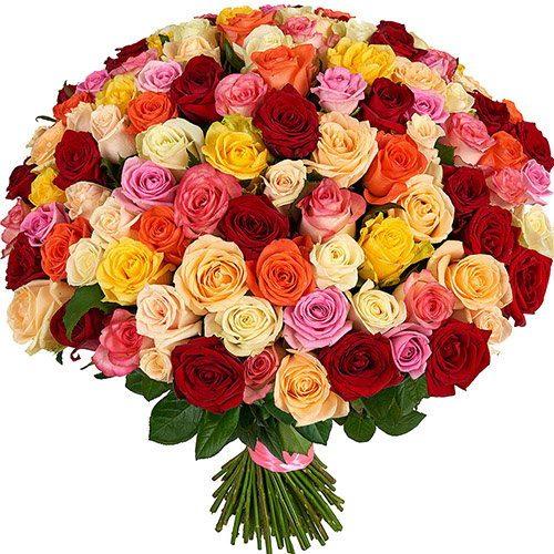 фото букета 101 троянда мікс