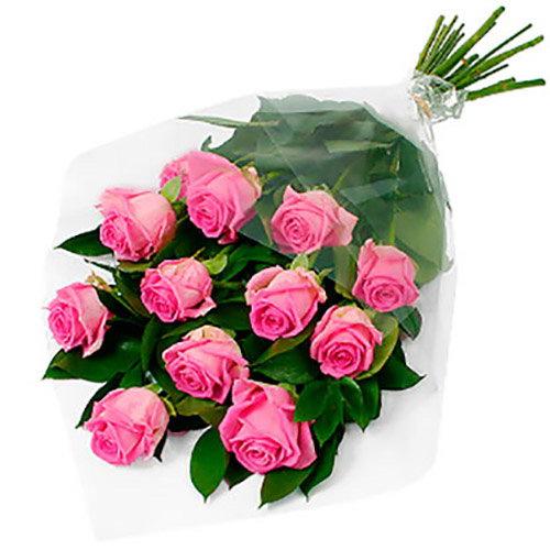 "букет 11 рожевих троянд ""Аква"""