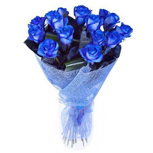 17 блакитних троянд фото