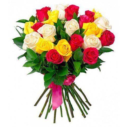букет 21 троянда мікс