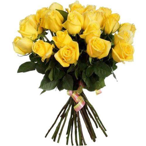 букет 25 жовтих троянд