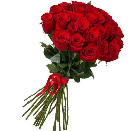 фото букета 25 імпортних троянд