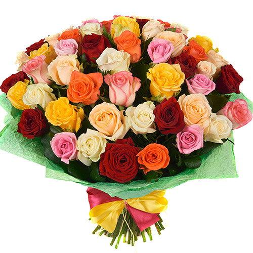 букет 51 троянда мікс