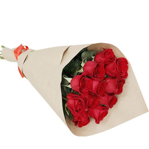 """Букет """"З тобою"""" 11 червоних троянд фото"""