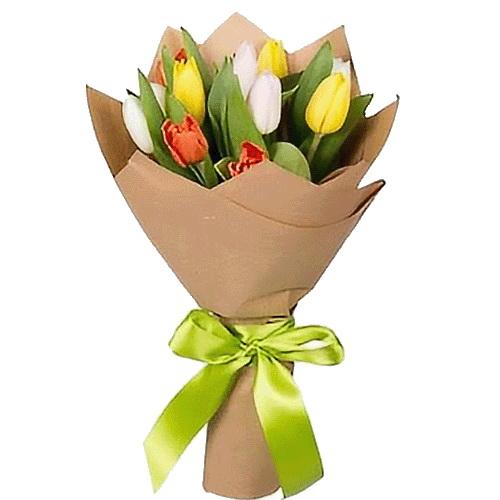 букет 11 тюльпанів мікс