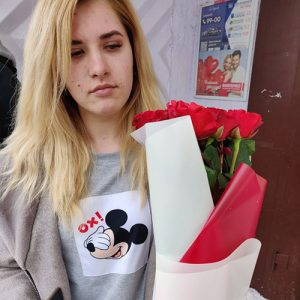 """11 красных роз """"С тобой"""" фотоотчёт Черновцы"""