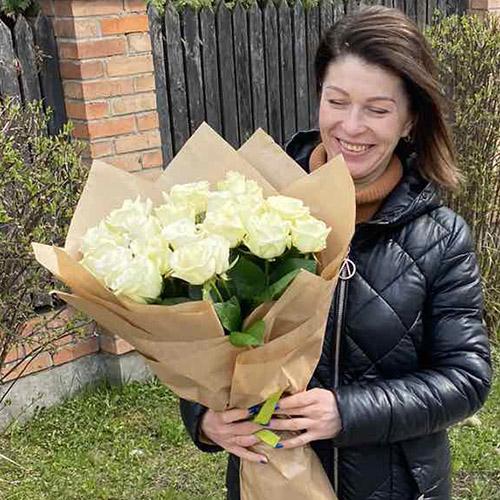 Фото товара 21 белая роза
