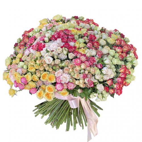 фото великого букета з 201 кущовий троянди